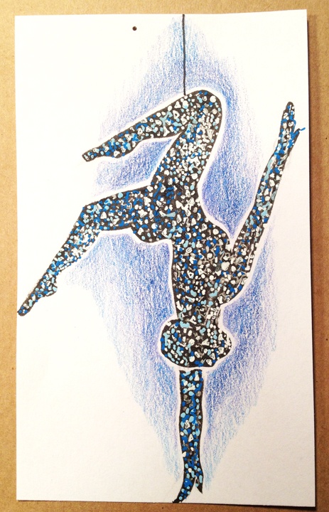 "Drawing from Cirque Du Soliel ""Totem"" 2012"